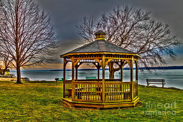 Photograph - Cayuga Gazebo by William Norton