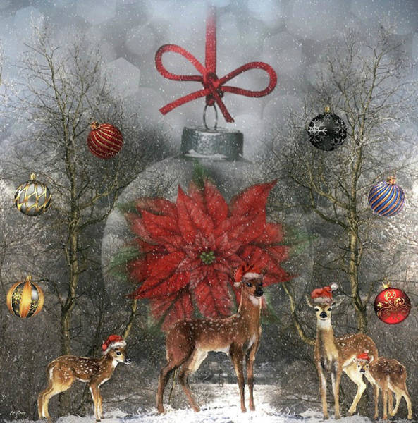 Season Mixed Media - Christmas In The Woods by G Berry