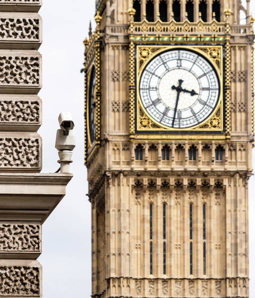 Photograph - Cctv Camera With Blurred Big Ben In Background by Jacek Wojnarowski