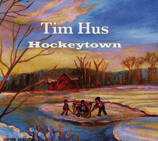 Boys Playing Hockey Painting - Cd Cover Commission Art by Carole Spandau