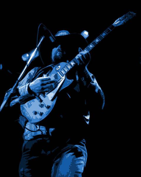 Photograph - Cdb Winterland 12-13-75 #1 Enhanced In Blue by Ben Upham