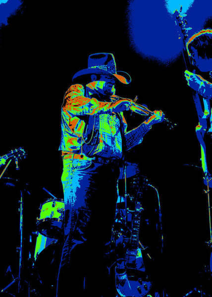 Photograph - Cdb Winterland 12-13-75 #14 Enhanced With Cosmicolors by Ben Upham