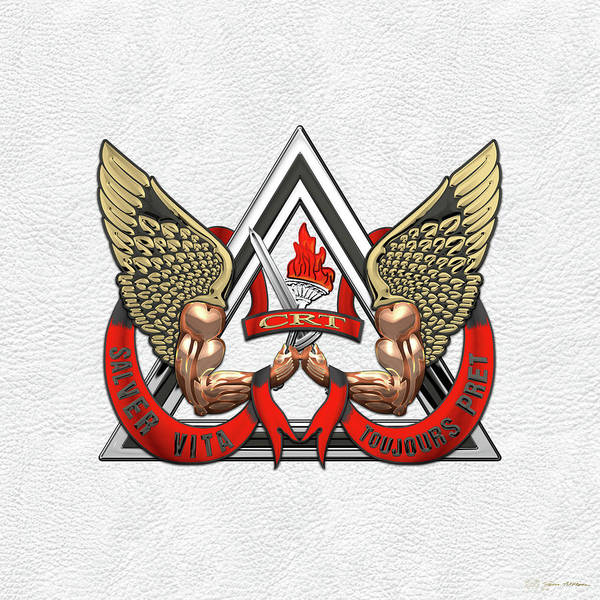 Digital Art - C.d.c.r. Crisis Response Team - C.r.t. Patch Over White by Serge Averbukh
