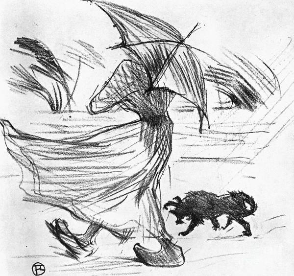 Photograph - Ce Que Dit La Pluie, 1895 by Henri de Toulouse-Lautrec