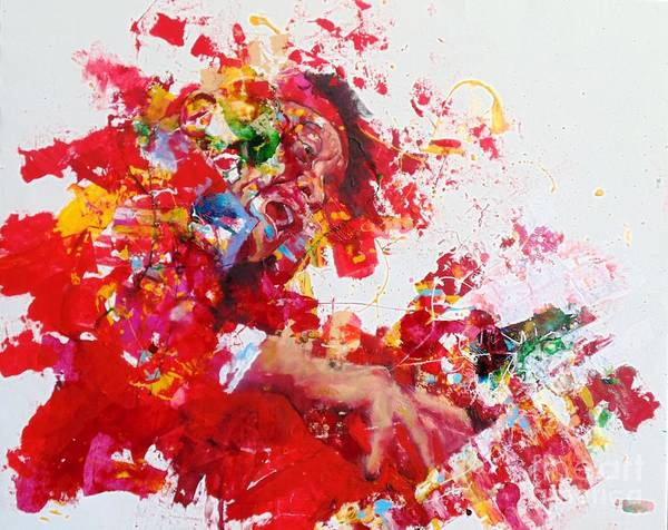 Wall Art - Painting - Cecil Taylor by Massimo Chioccia
