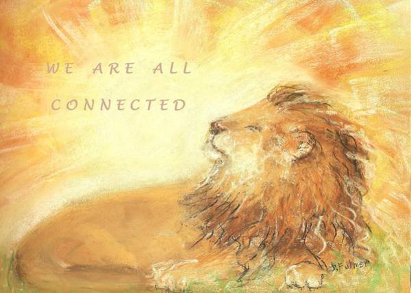 Drawing - Cecil The Lion by Denise F Fulmer