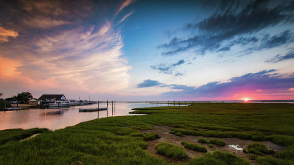 Photograph - Cedar Beach Marina Sunset by Alissa Beth Photography