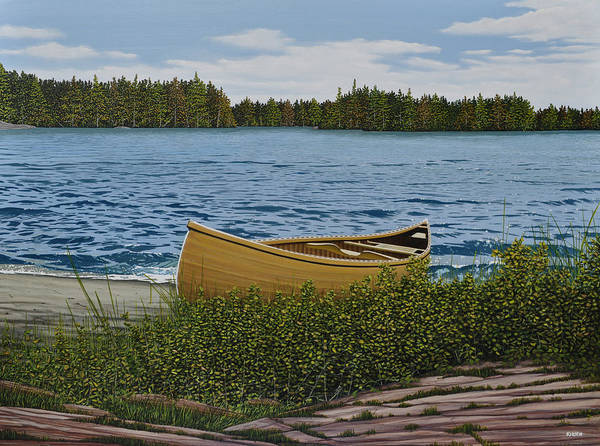 Painting - Cedar Canoe by Kenneth M Kirsch