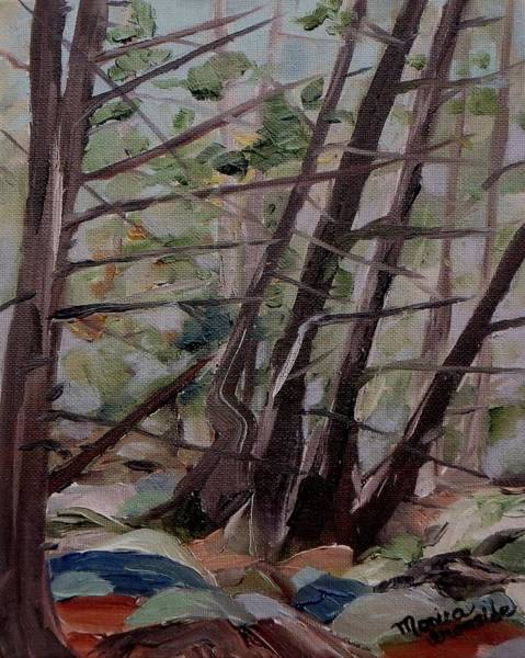 Painting - Cedar Forest by Monica Ironside