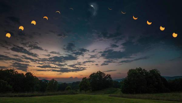 Cedar Key Photograph - Cedar Mtn Eclipse Composite by Ben Keys Jr
