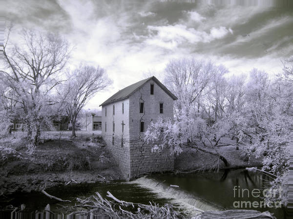 Photograph - Cedar Point Mill In Infrared by Crystal Nederman