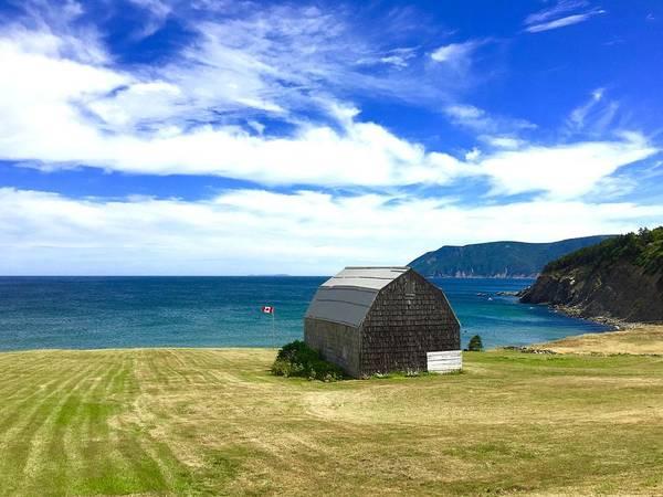 Photograph - Cedar Shingles Barn By The Ocean by Cristina Stefan
