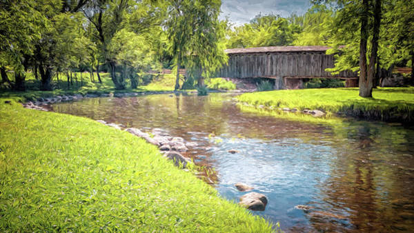 Photograph - Cedarburg Covered Bridge by Susan Rissi Tregoning