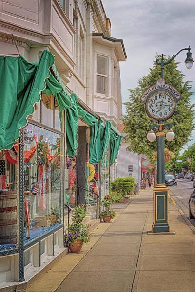 Photograph - Cedarburg Street Clock by Susan Rissi Tregoning