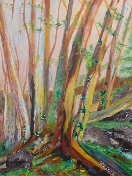Wall Art - Painting - Cedars by Rich Mason