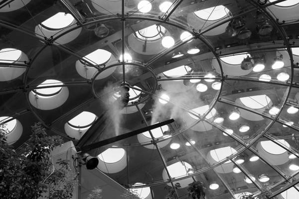 Photograph - Ceiling Abstract Academy Of Sciences Bw by Bonnie Follett