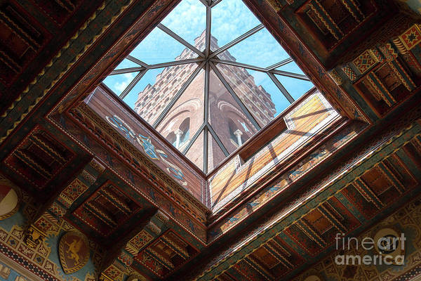 Photograph - Ceiling And Tower Of The Castello by Brenda Kean