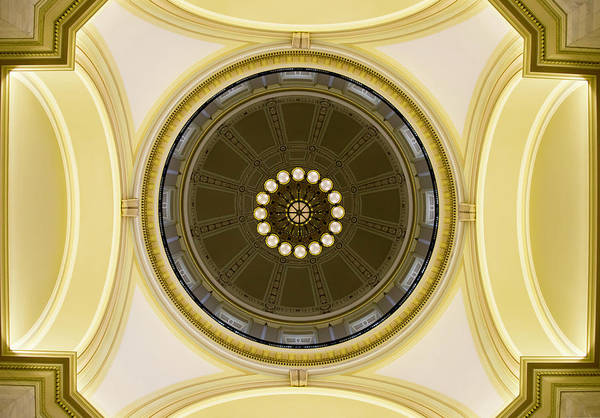 Photograph - Ceiling, Arkansas State Capital by Chris Coffee