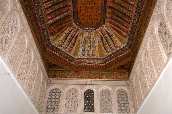 Photograph - Ceiling From Bahia Palace by Aivar Mikko