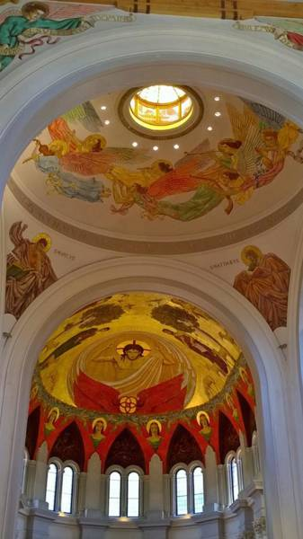 Wall Art - Photograph - Ceiling In St. Joseph Abby by Gayle Miller