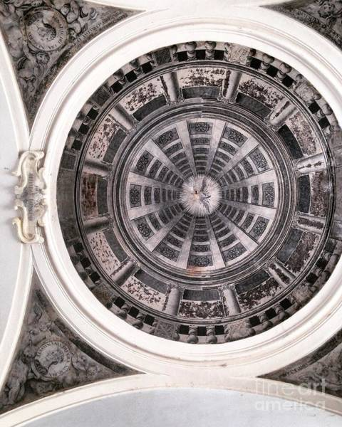 Photograph - Ceiling Of The Abbey Of The Holy Spirit In Sulmona, Italy by Angela Rath