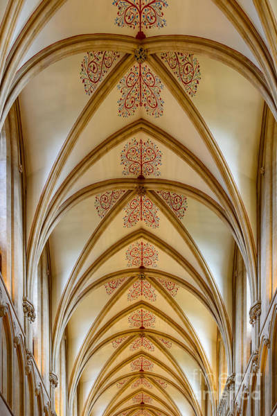 Photograph - Ceiling, Wells Cathedral. by Colin Rayner