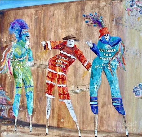 Mojo Painting - Celebrate- Dave Matthews Two Step Trinidad Art by Karen Evans