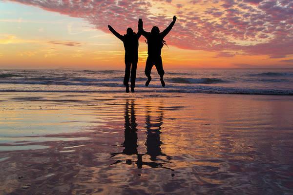 Jumping Photograph - Celebrate Life by Betsy Knapp
