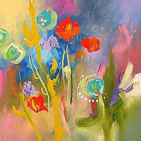 Fauve Painting - Celebrate Life by Linda Monfort