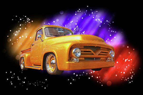 Photograph - Celebrating 1955 Style - Ford F-100 by Gill Billington