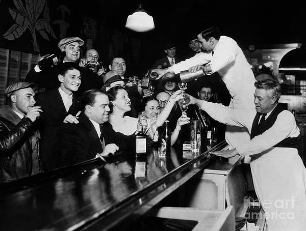 Pouring Photograph - Celebrating The End Of Prohibition by American School