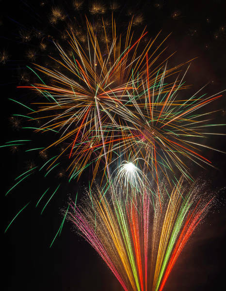 Dazzle Wall Art - Photograph - Celebration Fireworks by Garry Gay