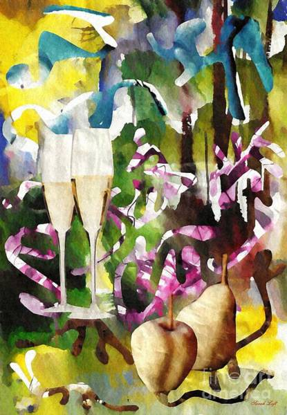 Champagne Mixed Media - Celebration by Sarah Loft