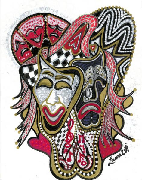Comedy Painting - Celebration - X by Laurel Rosenberg