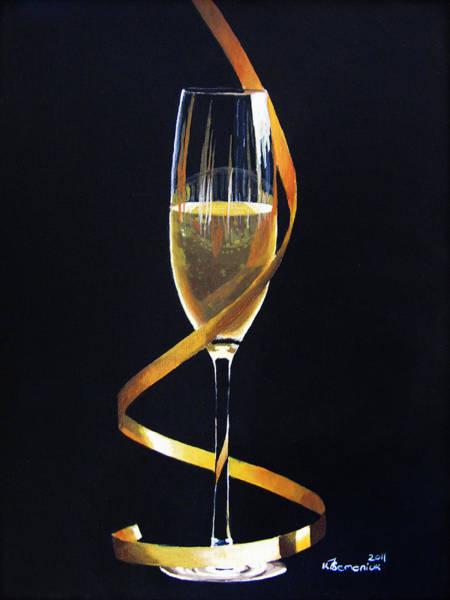 Champagne Painting - Celebrations by Kayleigh Semeniuk