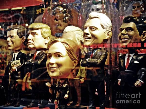 Hillary Clinton Photograph - Celebrity Bobbleheads 2 by Sarah Loft