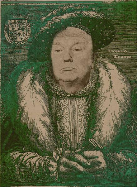 Trump Digital Art - Celebrity Etchings - Donald Trump  by Serge Averbukh