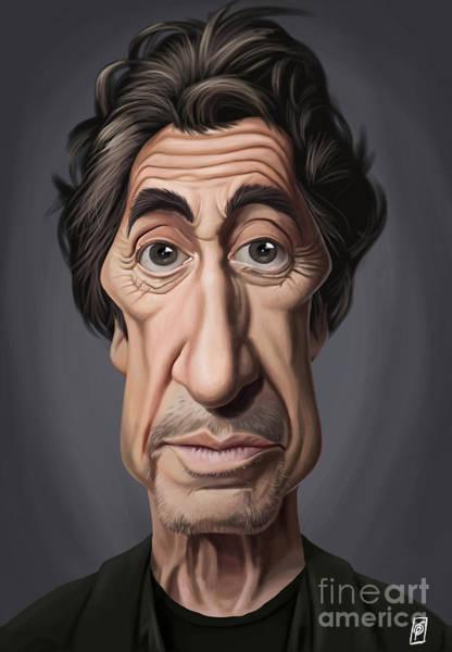 Digital Art - Celebrity Sunday - Al Pacino by Rob Snow