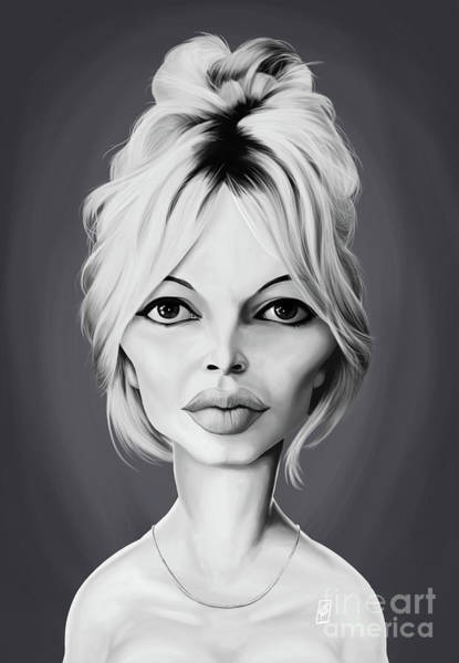 Digital Art - Celebrity Sunday - Brigitte Bardot by Rob Snow