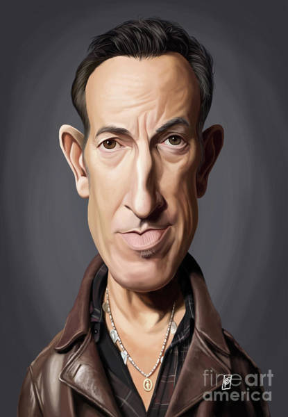 Digital Art - Celebrity Sunday - Bruce Springsteen by Rob Snow