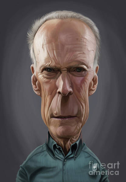 Digital Art - Celebrity Sunday - Clint Eastwood by Rob Snow
