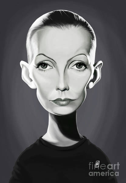 Digital Art - Celebrity Sunday - Greta Garbo by Rob Snow