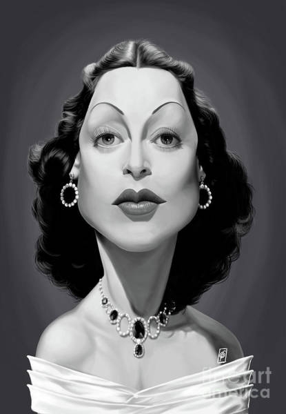 Digital Art - Celebrity Sunday - Hedy Lamarr by Rob Snow
