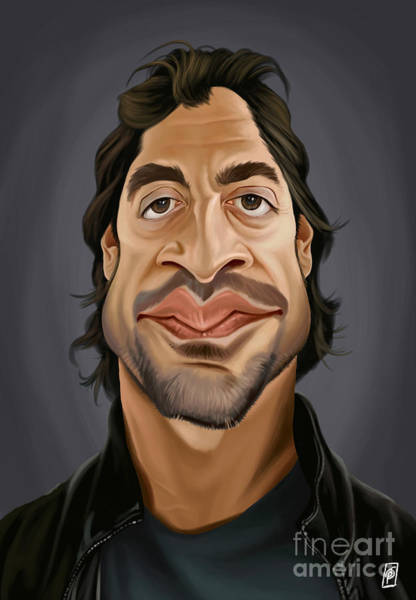 Digital Art - Celebrity Sunday - Javier Bardem by Rob Snow