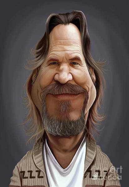 Digital Art - Celebrity Sunday - Jeff Bridges by Rob Snow