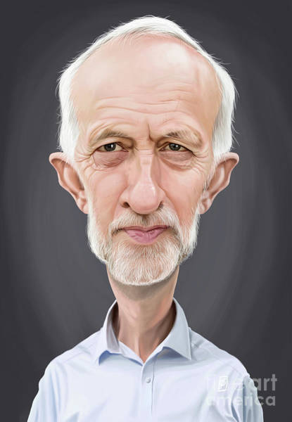 Digital Art - Celebrity Sunday - Jeremy Corbyn by Rob Snow