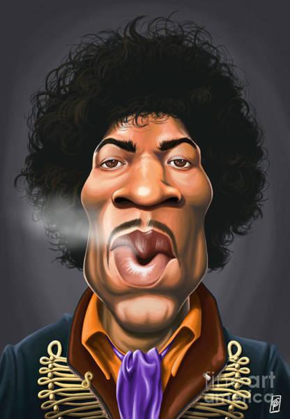 Digital Art - Celebrity Sunday - Jimi Hendrix by Rob Snow