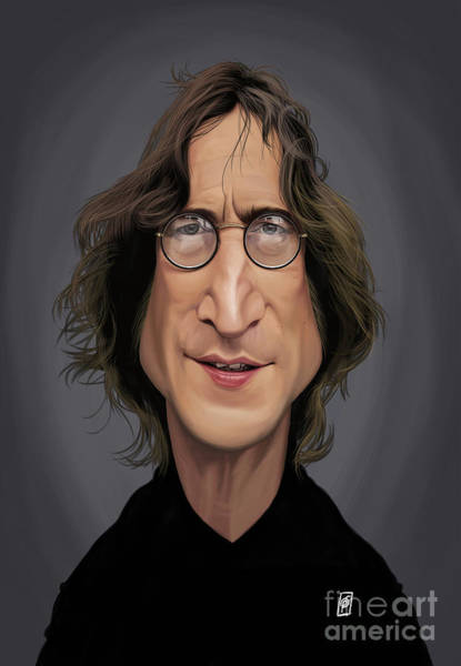 Digital Art - Celebrity Sunday - John Lennon by Rob Snow