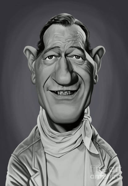 Digital Art - Celebrity Sunday - John Wayne by Rob Snow