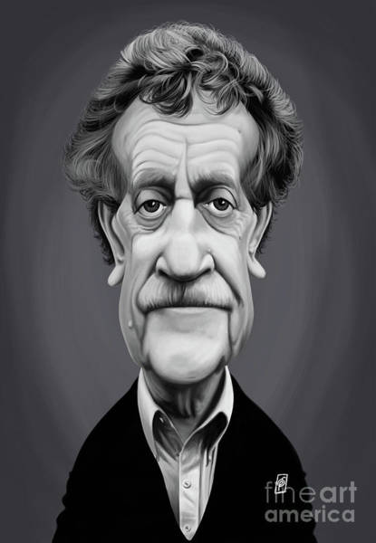 Digital Art - Celebrity Sunday - Kurt Vonnegut by Rob Snow